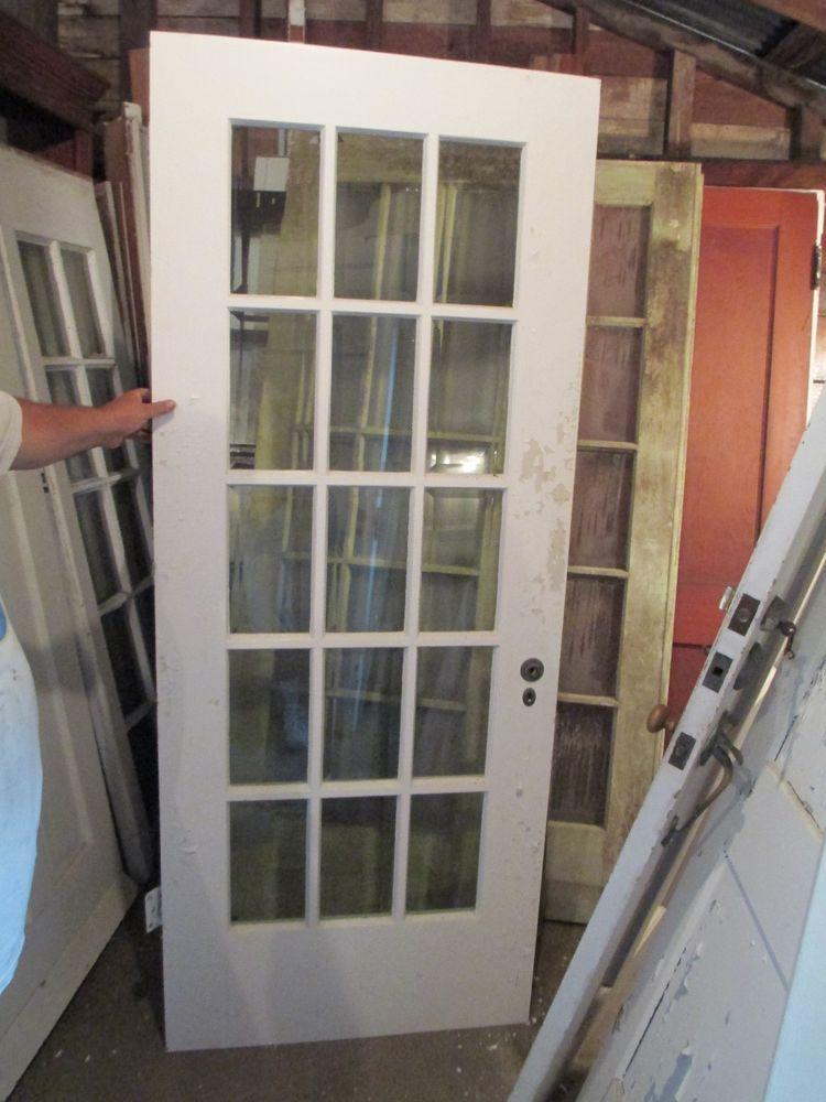 Exterior 15 Pane Glass Door Bevelled Glass 32 X 83 Kmun Up All