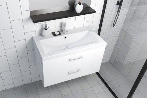 Badmobel Waschtisch Waschbecken Como 100 Cm Schrank Lara