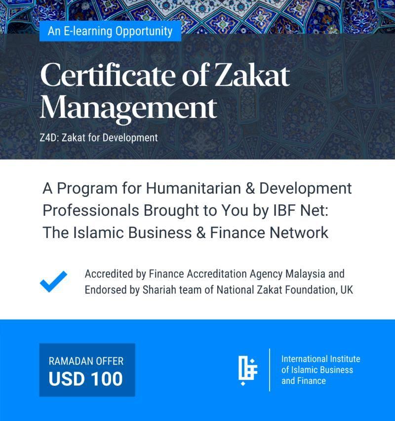 Certificate of Zakat Management in 2020 Poverty