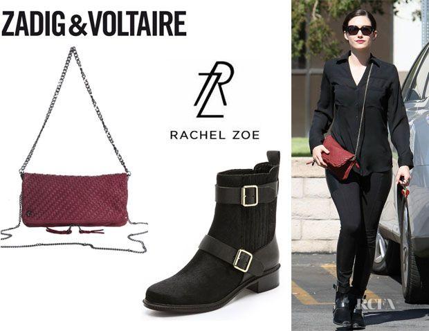 Emmy Rossum's Rachel Zoe 'Terri' Booties And Zadig & Voltaire 'Rock Tresse' Bag