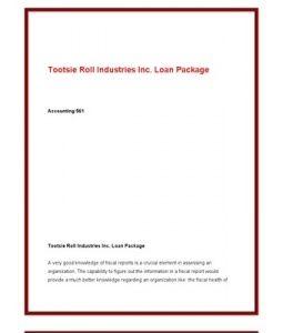 ACC561   ACC 561 (VERSION 4)   Week 3 Tootsie Roll Industries Inc. Loan Package --> http://www.scribd.com/doc/141684876/ACC561-ACC-561-VERSION-4-Week-3-Tootsie-Roll-Industries-Inc-Loan-Package