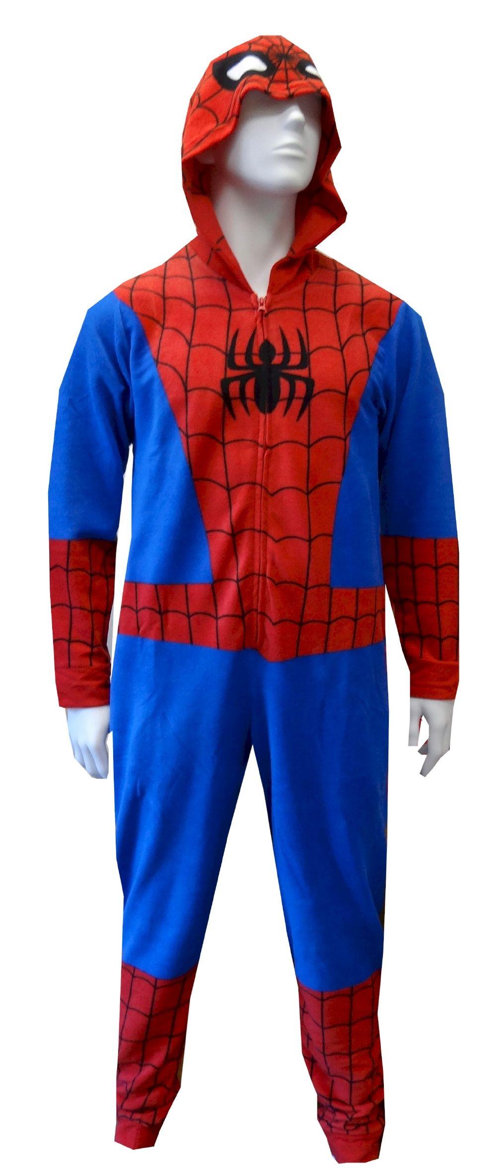 54f909e8fa59 Spiderman   Spidergirl Hooded Fleece Onesie Pajama Conquer the evil ...