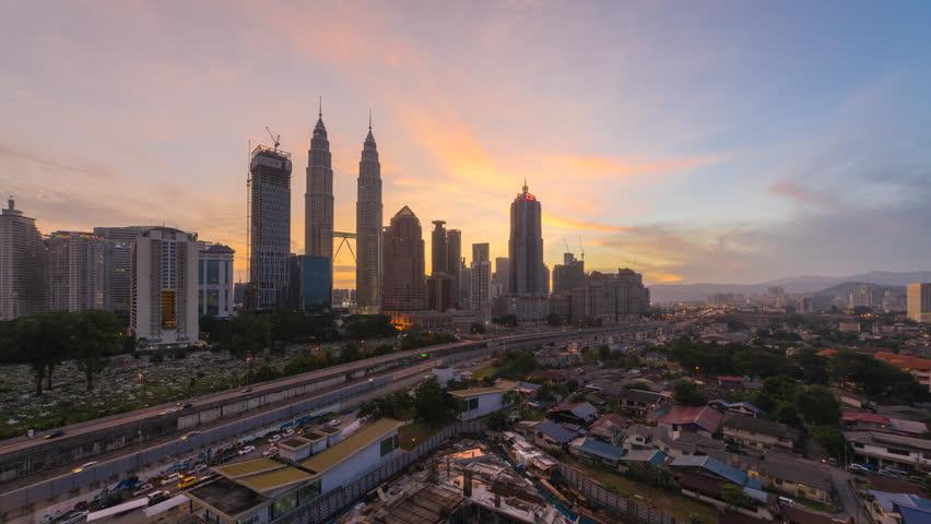 Time Lapse Of Beautiful And Stockowy Material Wideo 100 Beztantiemowy 34029385 Kuala Lumpur City National Landmarks City Skyline