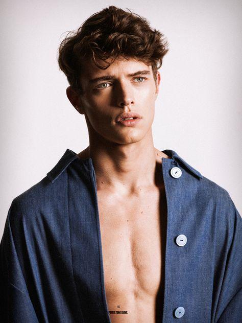 An Objectification Sascha Wolf By Philipp Jelenska Brown Hair Blue Eyes Male Models Blue Hair