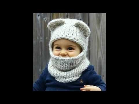 diseño novedoso claro y distintivo suave y ligero Cuello con capucha y orejas de oso tejido a crochet para ...