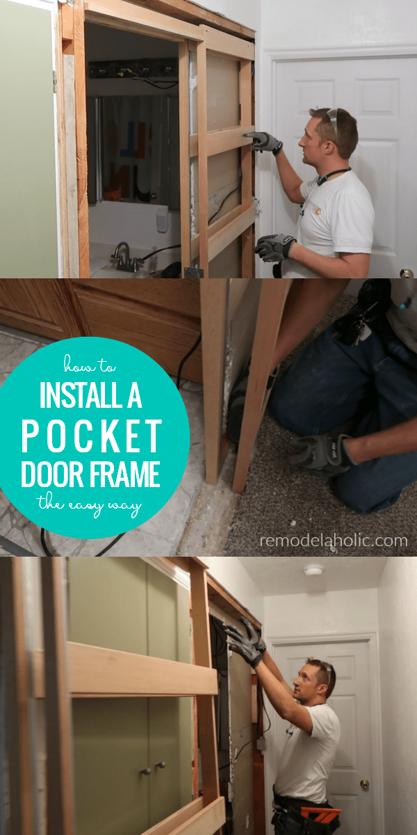 How To Install A Pocket Door Frame In An Existing Wall The Easy