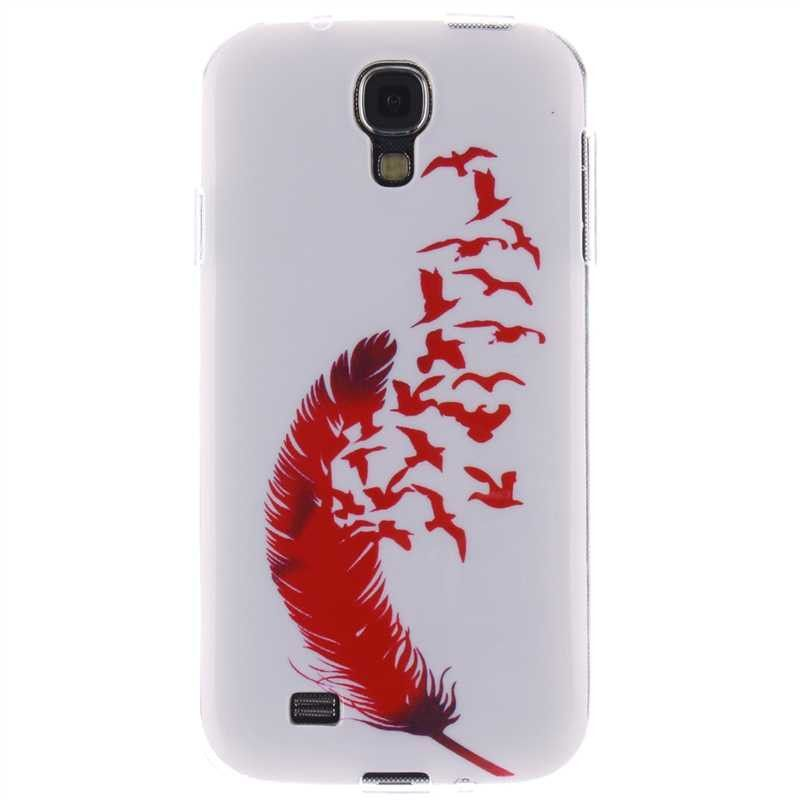 Flexible Fashion Painted Pattern TPU Silicone Soft Cellphone Cover Case for Samsung Galaxy S4 - 15 Designs
