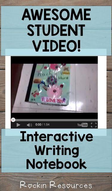 Interactive Writing Notebook Video Interactive writing notebook