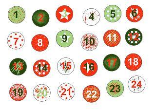 Chiffres Numéros Gratuit à Imprimer Pour Calendrier De Lavent Noel