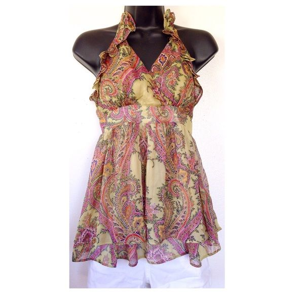 Adorable Paisley Halter Top If you have any questions, please let me know. Absolutely no trades or non posh transactions!!!! SELLER DISCOUNT: 30% off 4 or more. Thanks for stopping by! Tops