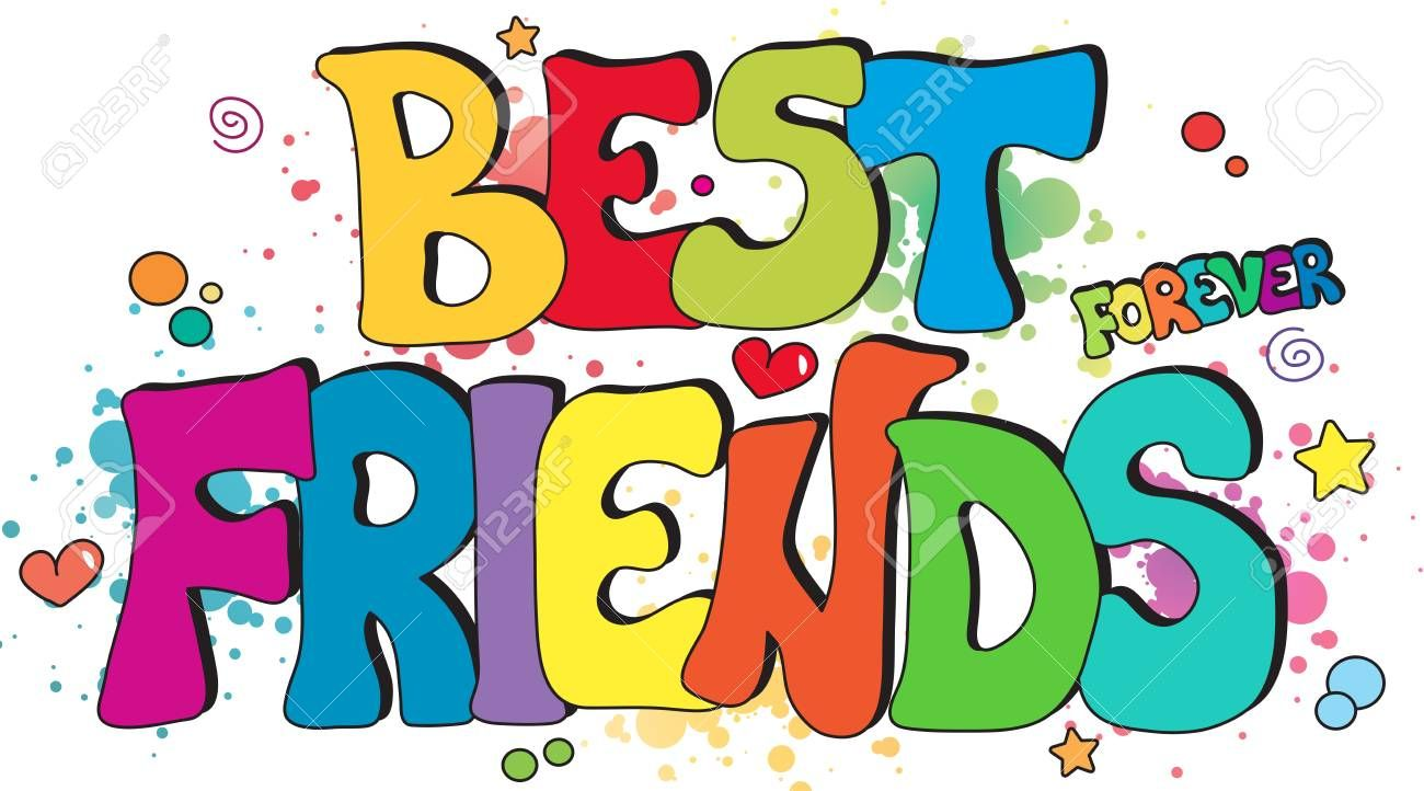 sublimation Commercial use! Best Friends Forever DIGITAL DOWNLOAD clipart Hand drawn illustration