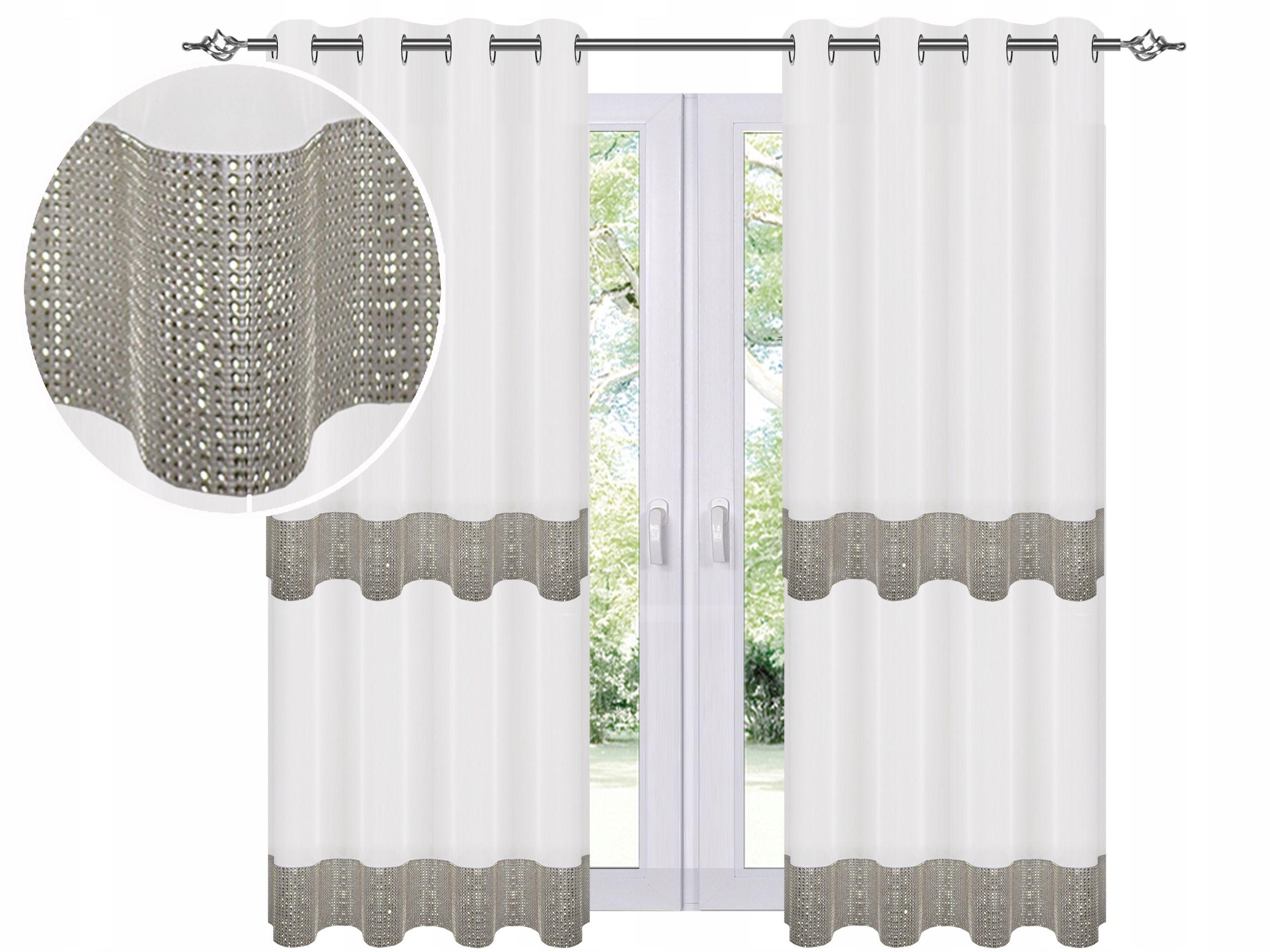 Firana Gotowa Na Przelotkach 150x250cm Cyrkonie 8416208272 Allegro Pl Home Decor Curtains Decor