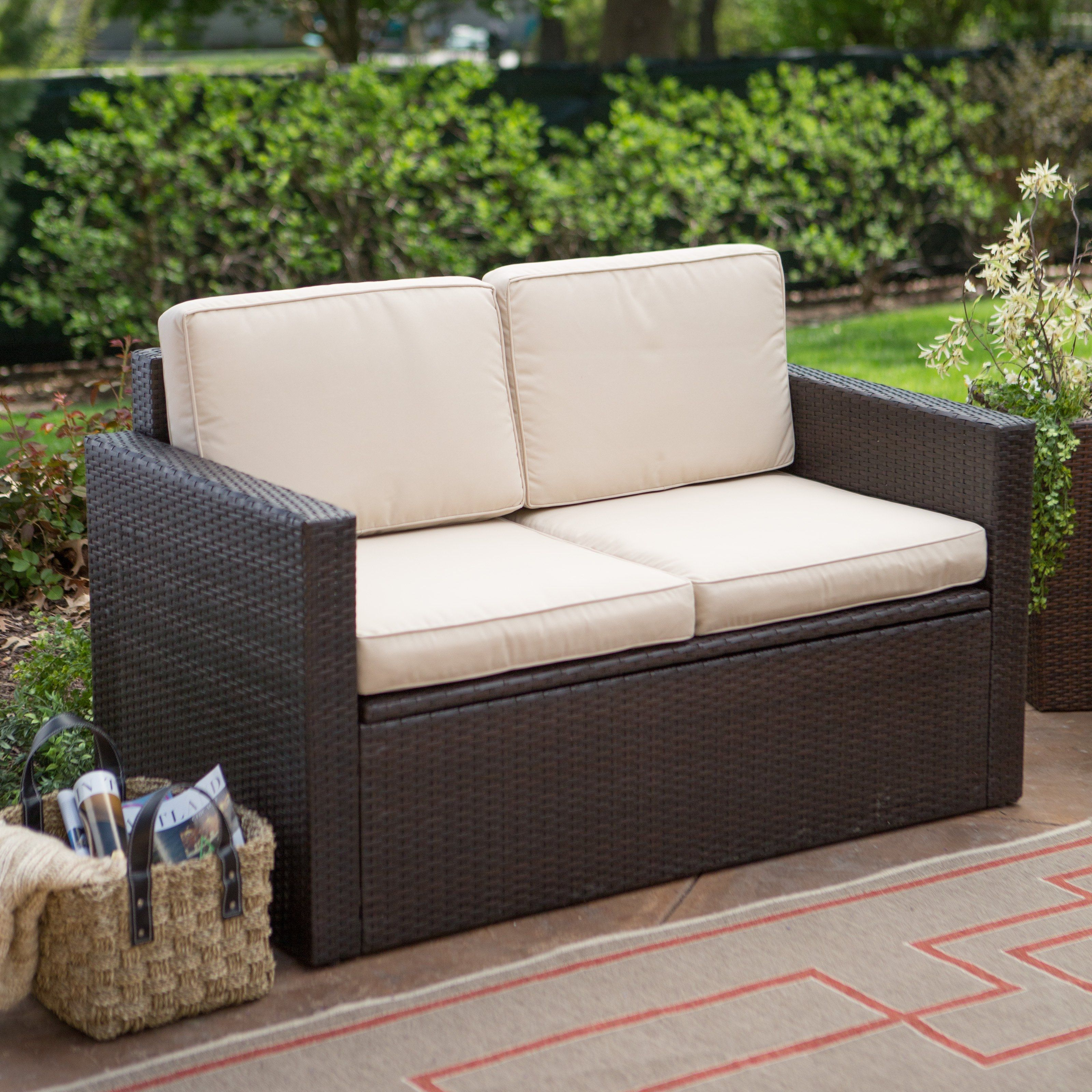 Resin Loveseat Patio Furniture Patio Decor Pinterest
