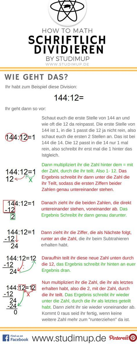 Schriftlich rechnen einfach erklärt. Im Mathe Spickzettel von ...