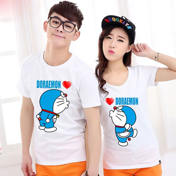 Baju Couple Doraemon
