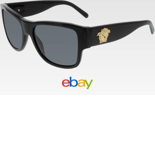 632ce73d32e Versace Women s VE4275-GB1 87-58 Black Square Sunglasses