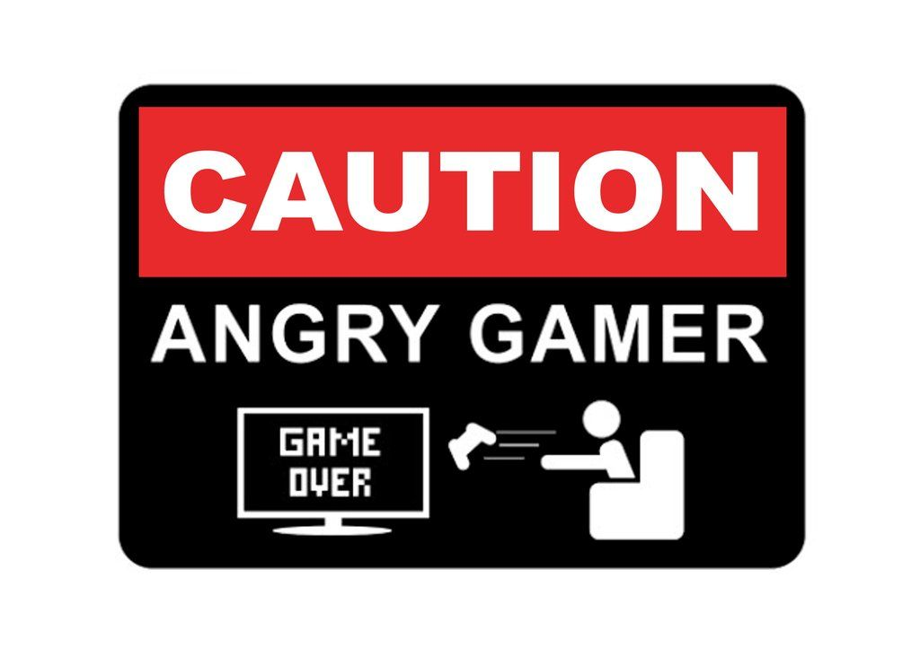 Caution Angry Gamer Metal Aluminium Sign Plaque Funny Door Room Gift Pc Console Aluminum Signs Plaque Sign Room Doors