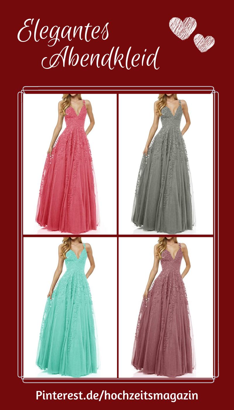 Bodenlanges Abendkleid Mit Zauberhafter Spitze In Vielen Farben In 2020 Abendkleid Ballkleid Kleider