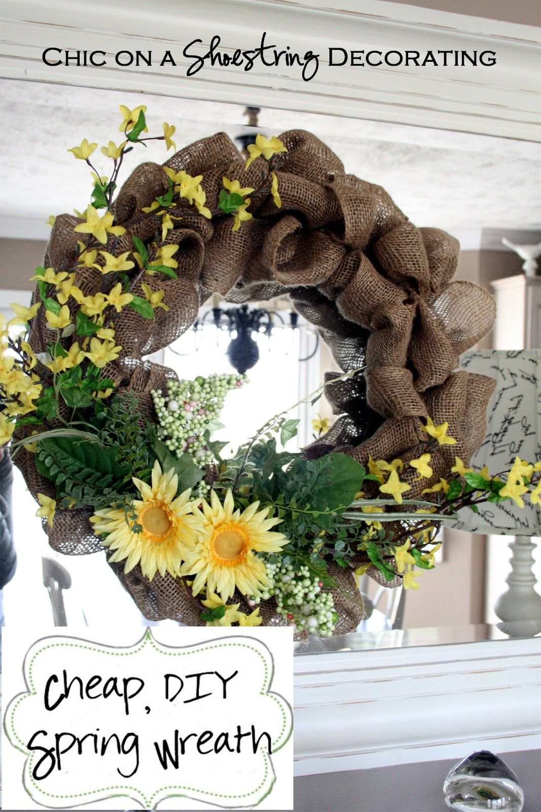 Chic on a shoestring decorating cheap diy spring wreath tutorial diy burlap spring wreath tutorial chic on a shoestring decorating izmirmasajfo Choice Image