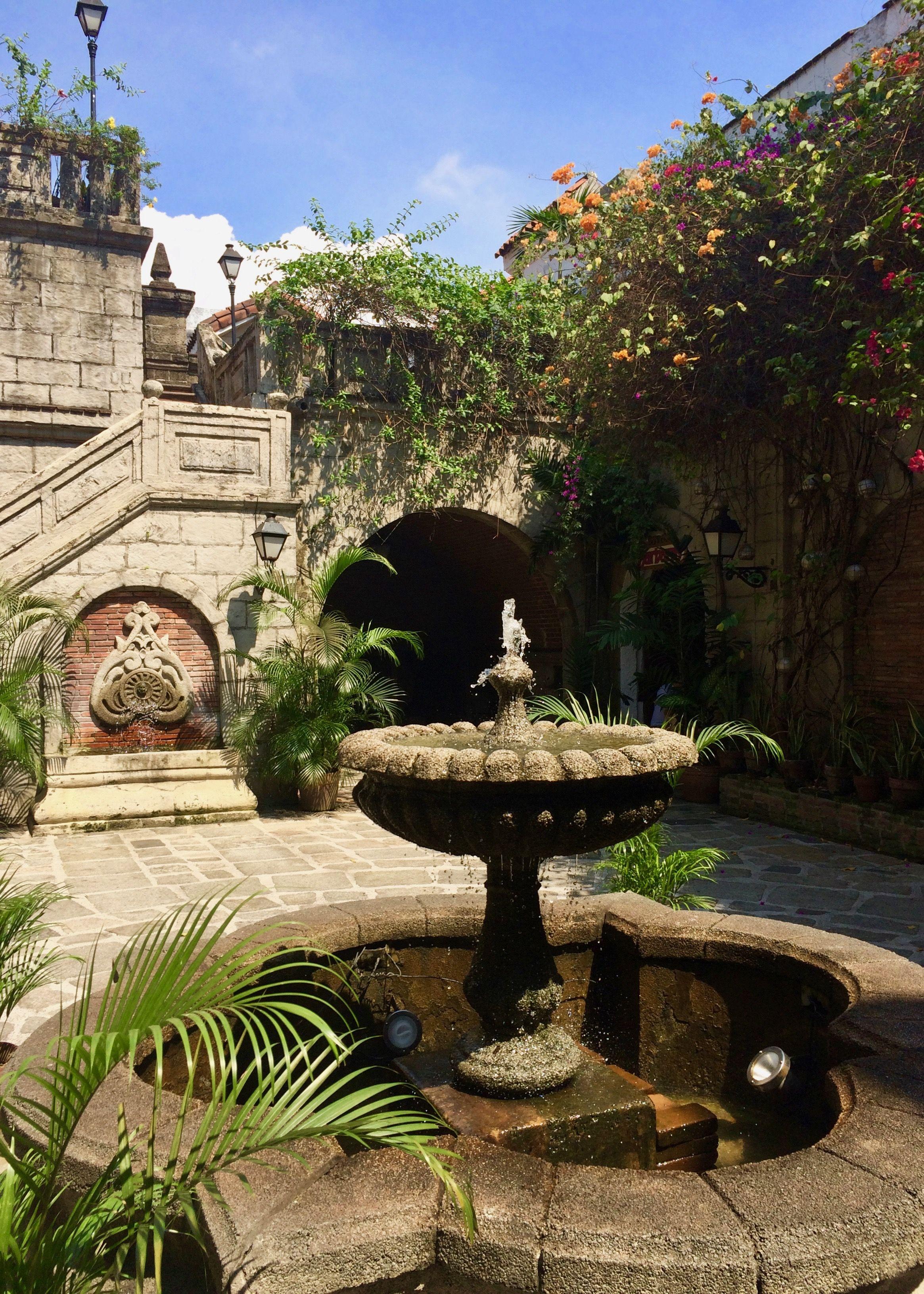 Courtyard garden, Casa Manila, Intramuros, Manila ...