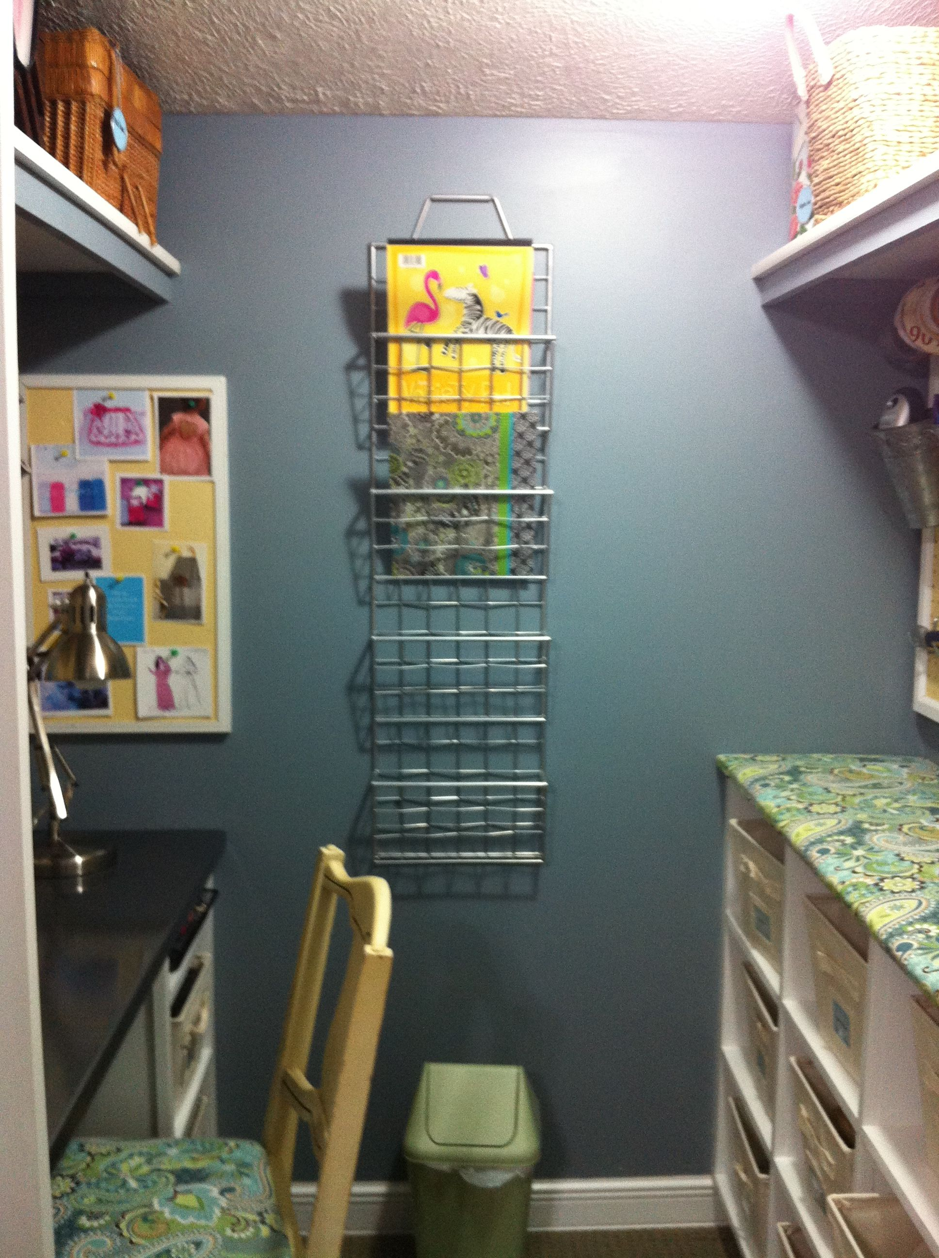 Walk in closet revamped to my private sewing room Sewing