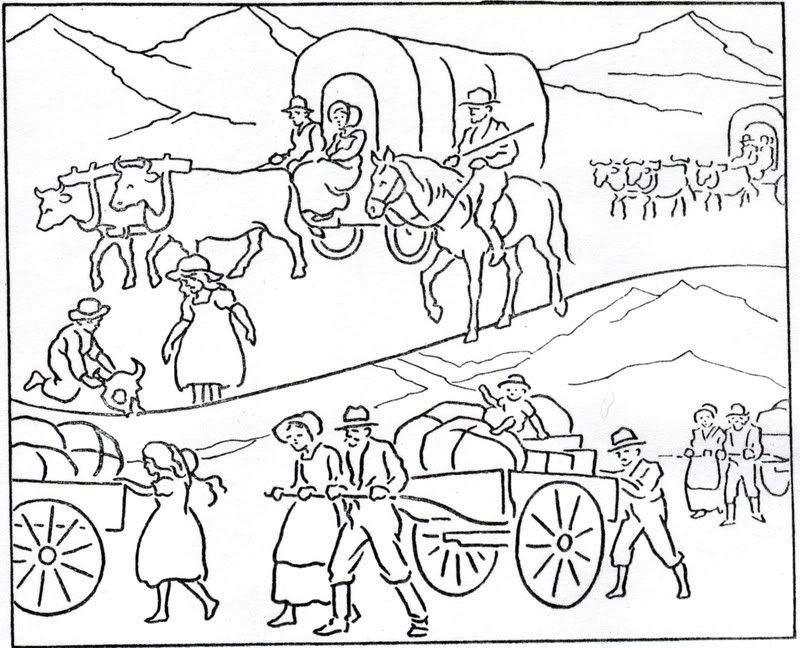pioneer day history coloring pages