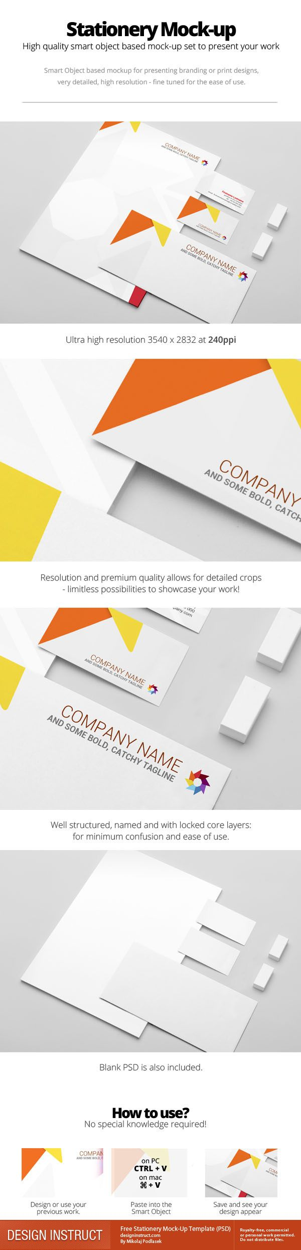 This free psd is for mocking up and presenting your stationery this free psd is for mocking up and presenting your stationery designs letterhead business card and envelope the psd is well organized and uses reheart Gallery