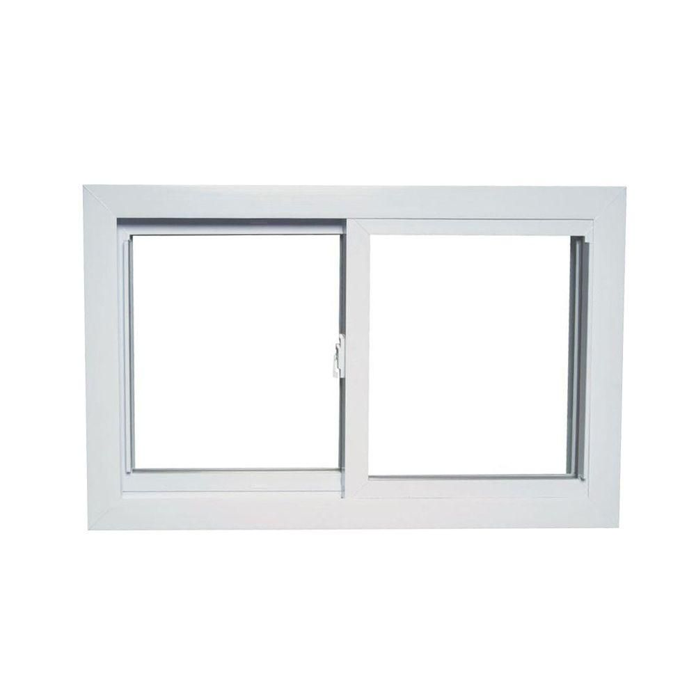American Craftsman 31 In X 17 In 70 Series Universal Reversible Sliding White Vinyl Window With Buck Frame 70 Slider Buck The Home Depot Window Vinyl American Craftsman Modern Window Design
