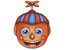 How To Draw Bb Balloon Boy From Five Nights At Freddys