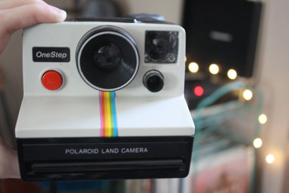 Polaroid Camera Urban Outfitters : Vintage s onestep polaroid land camera rainbow instant print