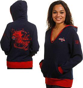 best sneakers f182a f368c Rinkside Washington Capitals Women's Hooded Sweatshirt-NHL ...