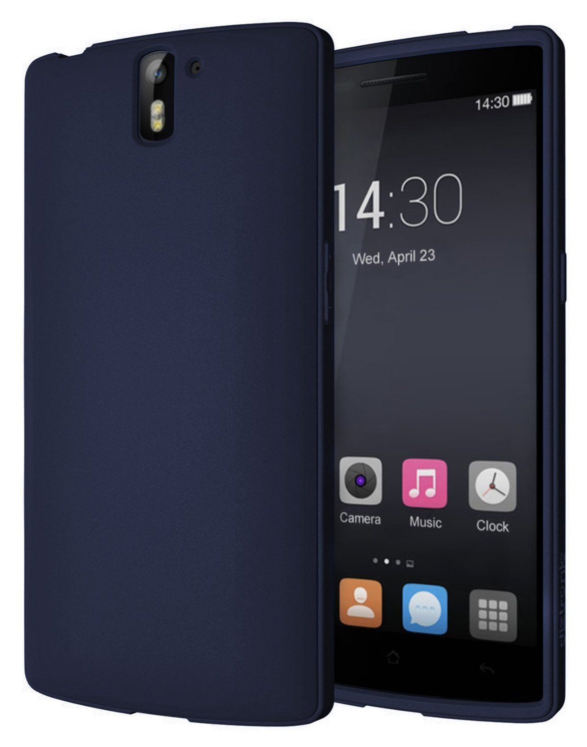 huge selection of c632f b0c7e Amazon.com: Diztronic Full Matte Navy Blue Flexible TPU Case for ...