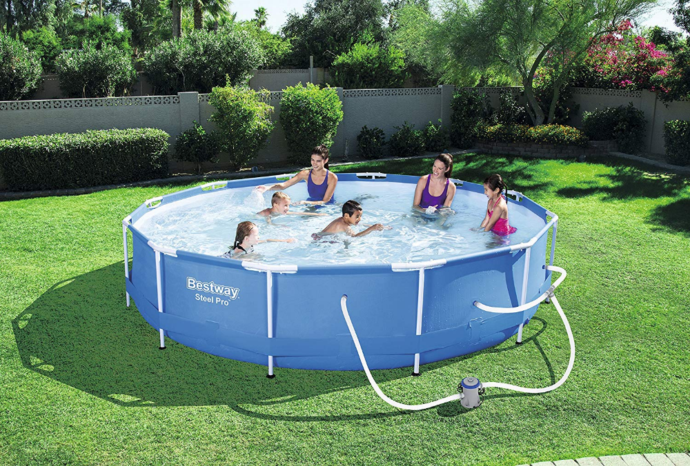 Amazon Com Bestway 56680 Steel Pro 12 X 30 Frame Set Above Ground Pool Garden Outdoor Pool Swimming Pools Bestway