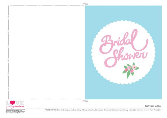 free printable bridal shower tented_cards