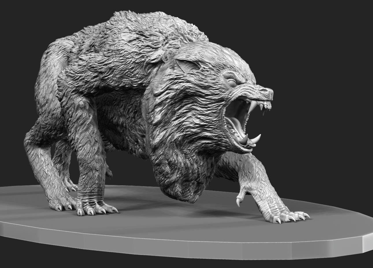 Custom An American Werewolf in London Maquette | Artwork in 2018 ...