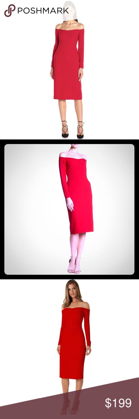 Black halo vita off the shoulder dress red sz nwt wear store