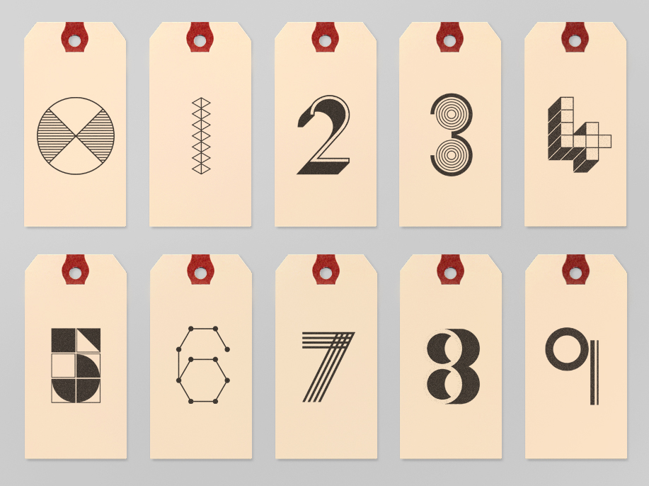 0-9 Numbered Tags.