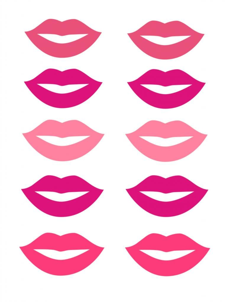 Smart image for printable mustache and lips