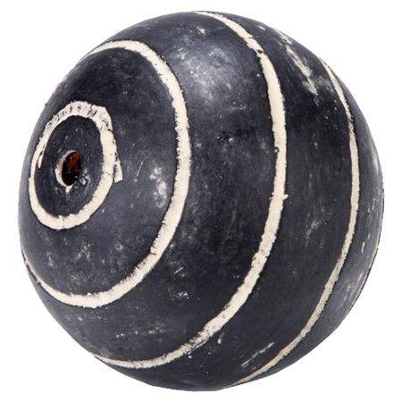 Black And White Decorative Ceramic Balls Five Ceramic Decorative Balls In Gray With Striped Details