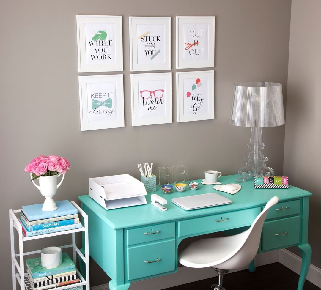 What You Hang On Your Office Walls Is Actually Pretty Important If You Are Short On Space You Workspace Inspiration Stylish Office Supplies Office Workspace