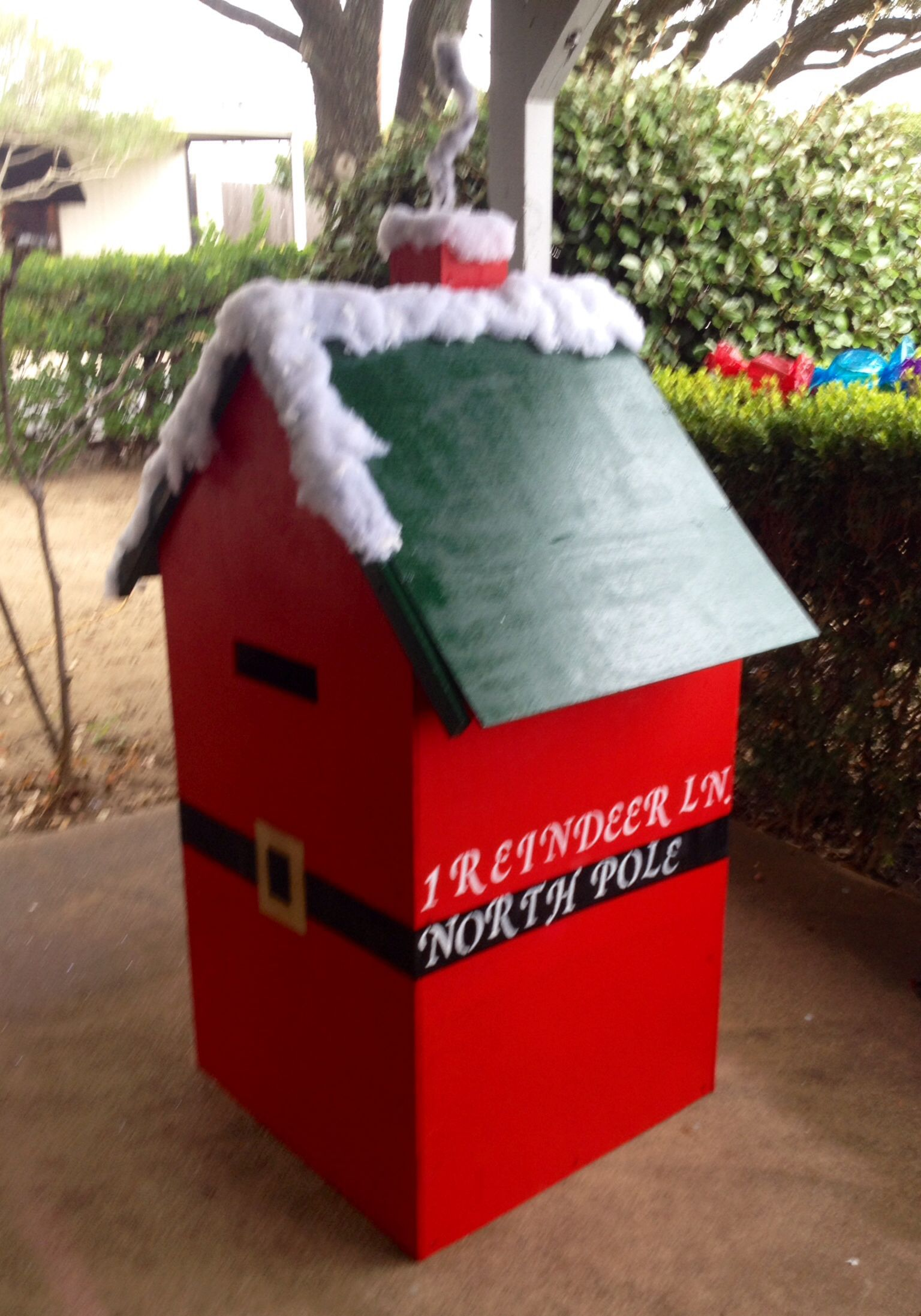 . Working on the Santa Mail Box at Southfork Ranch