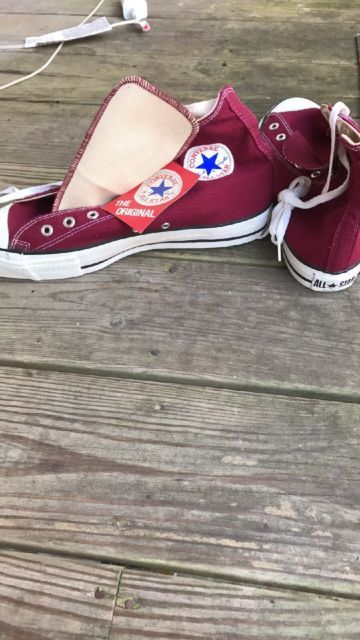 4f5663a5aa5 VINTAGE MAROON CONVERSE ALL STAR CHUCK TAYLOR NEW WITH TAG NOT WORN MADE IN  USA