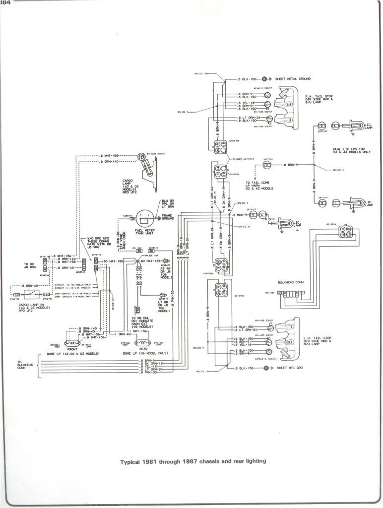 81 87 Chass Rr Light On 1986 Chevy Truck Wiring Diagram en