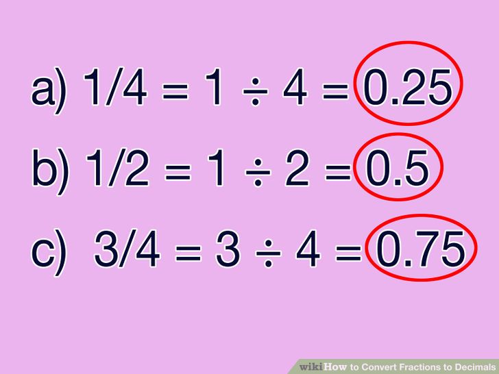 Convert Fractions to Decimals   education   Fractions ...