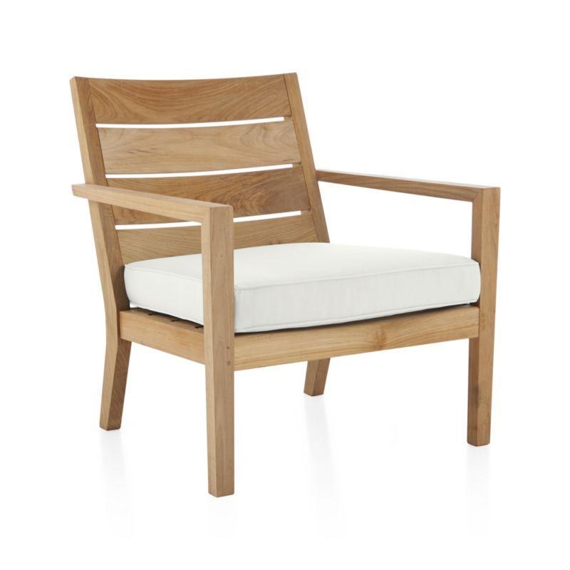 Regatta Natural Lounge Chair With White Sand Sunbrella