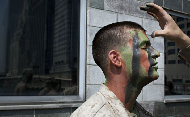 """Why Is the Marine Corps Fighting With the Navy Over a Camouflage Pattern? Two branches of the U.S. military are locked in a property battle worthy of Google and Apple. Military combat uniforms have two purposes: to camouflage soldiers, and to hold together in rugged conditions. It stands to reason that there's only one """"best"""" pattern, and one best stitching and manufacture. It should follow that when such a uniform is developed, the entire military should transition to it..."""