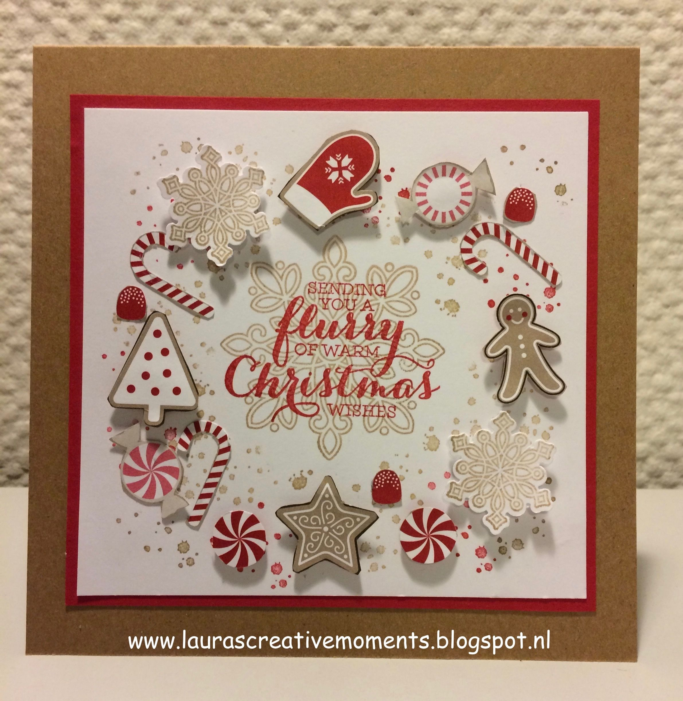 Candy Cane Lane DSP - Flurry of Wishes, Stampin\' Up! - Happy ...