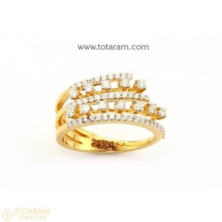 18K Gold Diamond Ring for Women 235 DR777 Buy this Latest