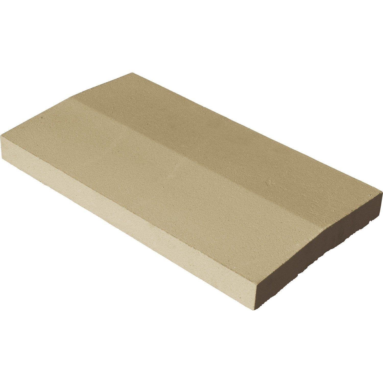 Couvre Mur 2 Pans Classique Lisse Ton Pierre H4 X L33 X P