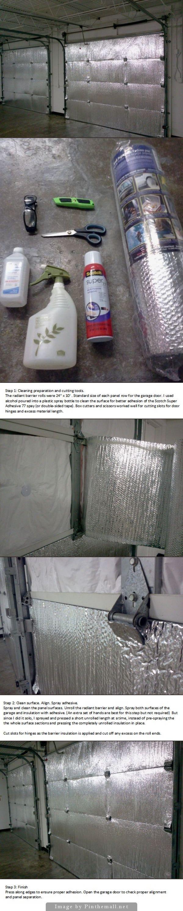 easy install of radiant barrier insulation to garage doors used reflectix brandu2026